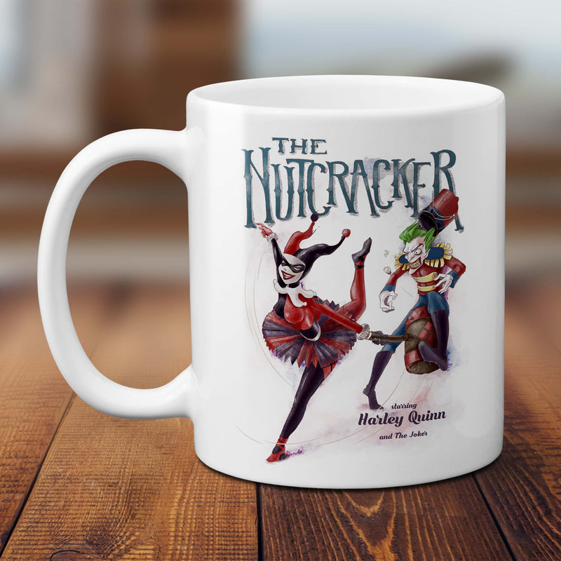 the nutcracker mug harley quinn and the joker