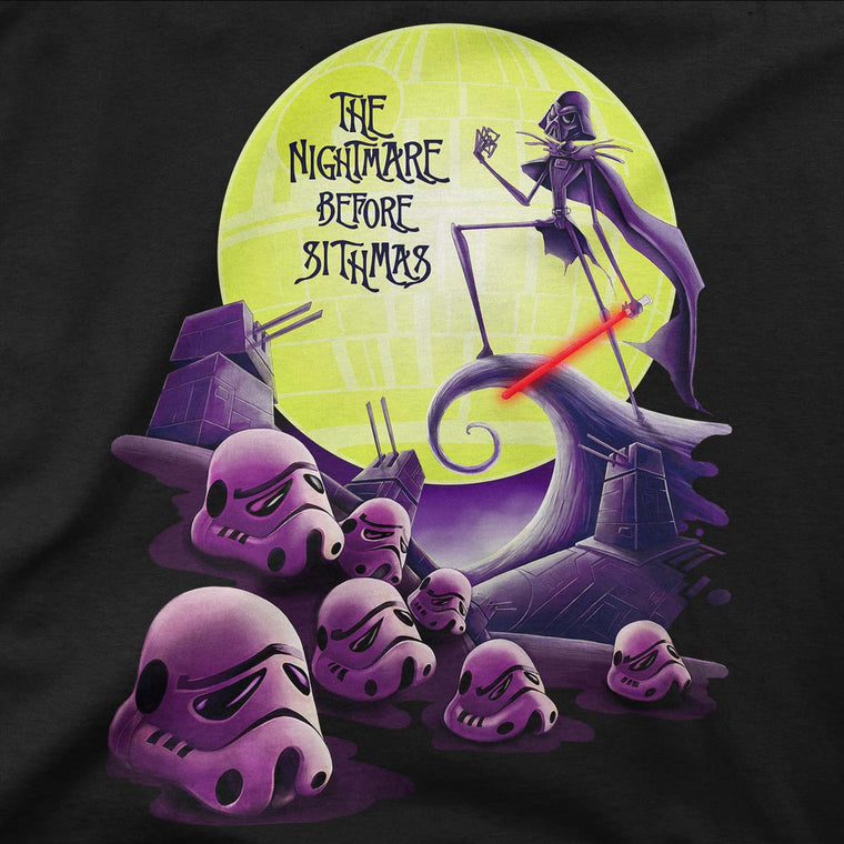 star wars nightmare before christmas t-shirt