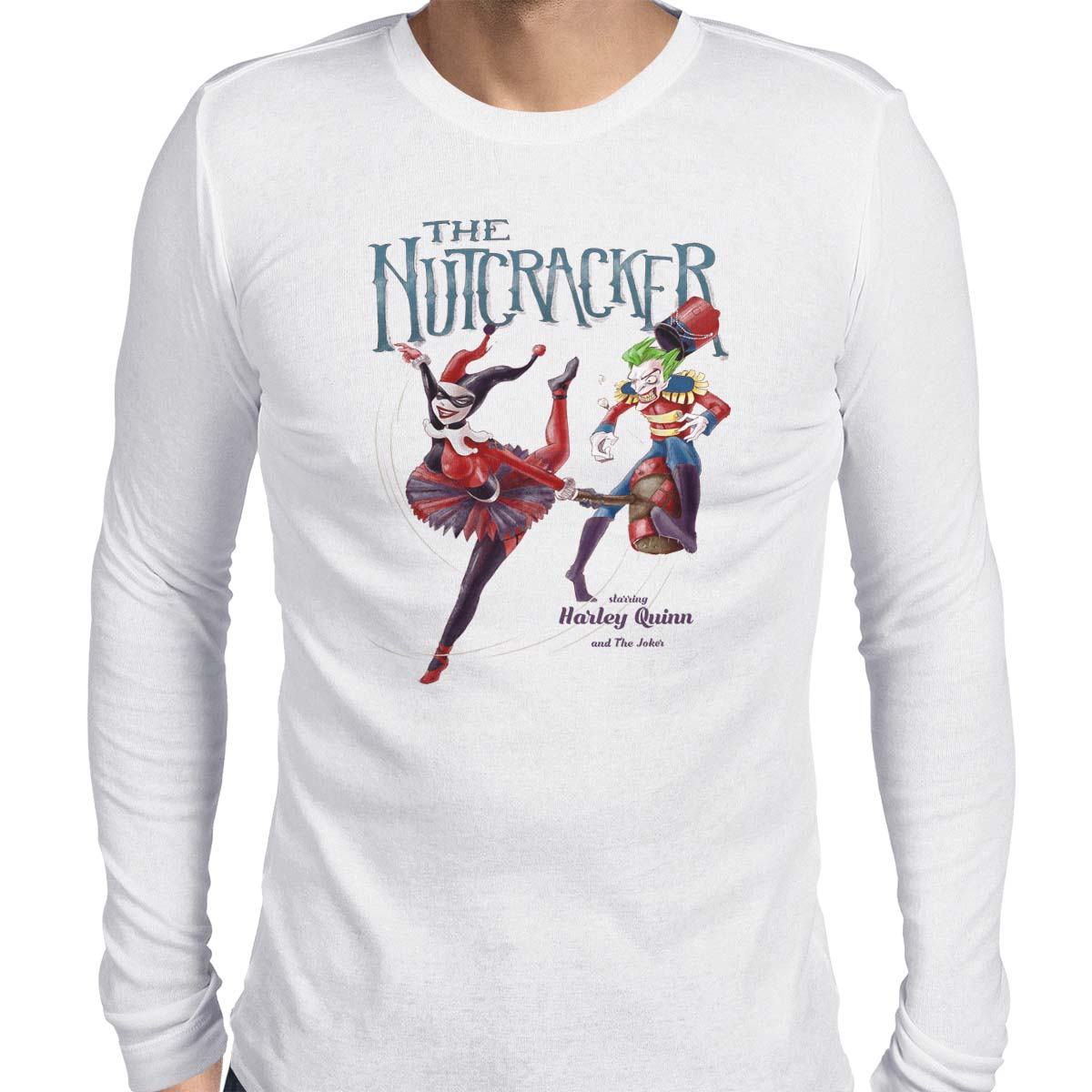 harley quinn t-shirt nutcracker white