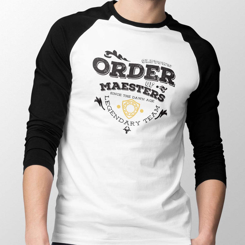 game of thrones order of maesters baseball tee mens