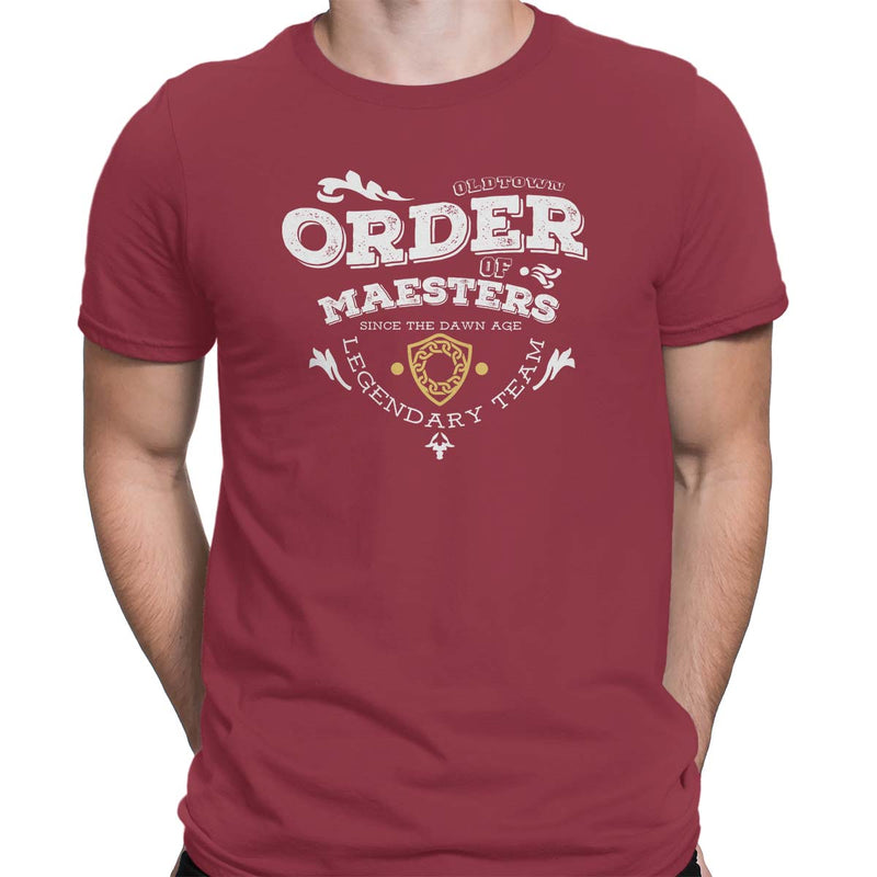 game of thrones order of maesters t-shirt red