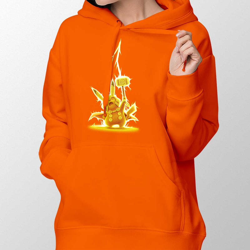 pikathor womens pullover hoodie orange