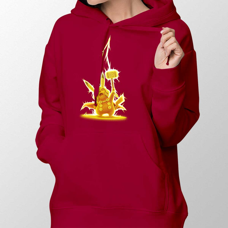 pikathor womens hoodie red