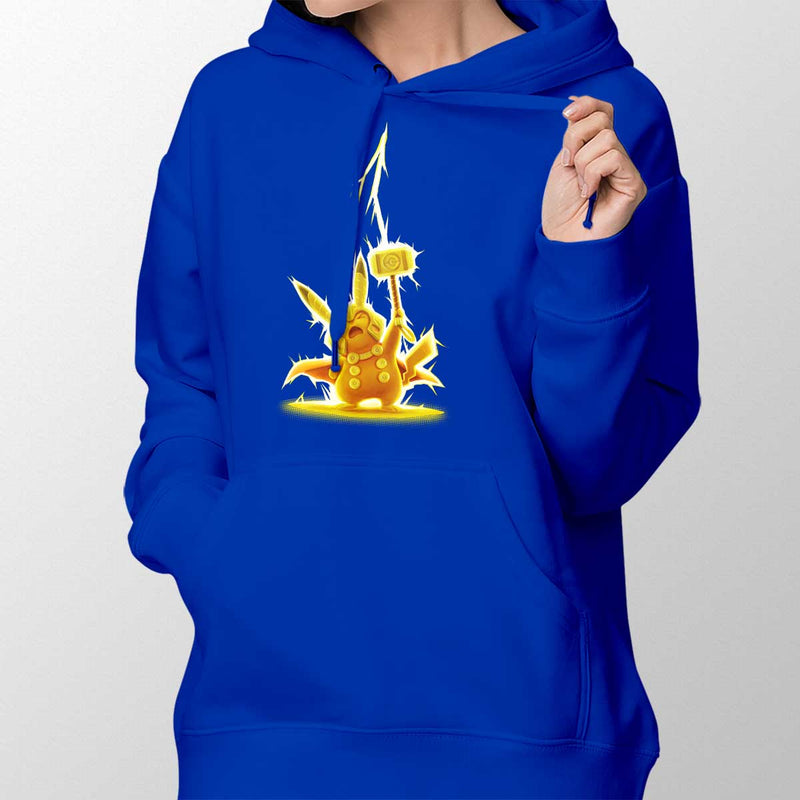 pikathor womens pullover hoodie royal blue