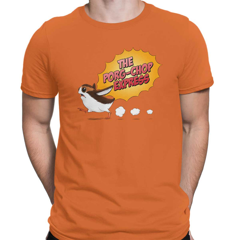star wars porg orange tee