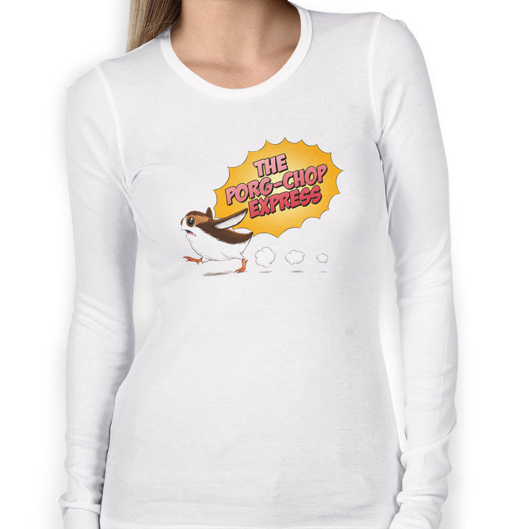 Porg-Chop Women's Long Sleeve Tee