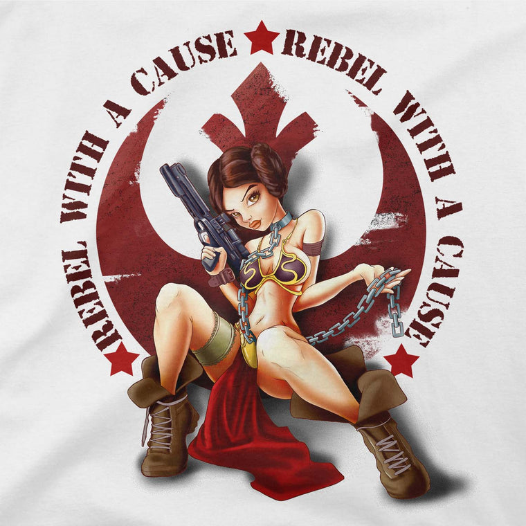 star wars rebel with a cause tshirt purple