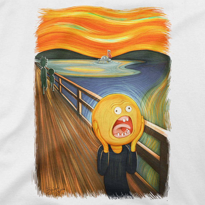 rick and morty screaming sun tshirt design