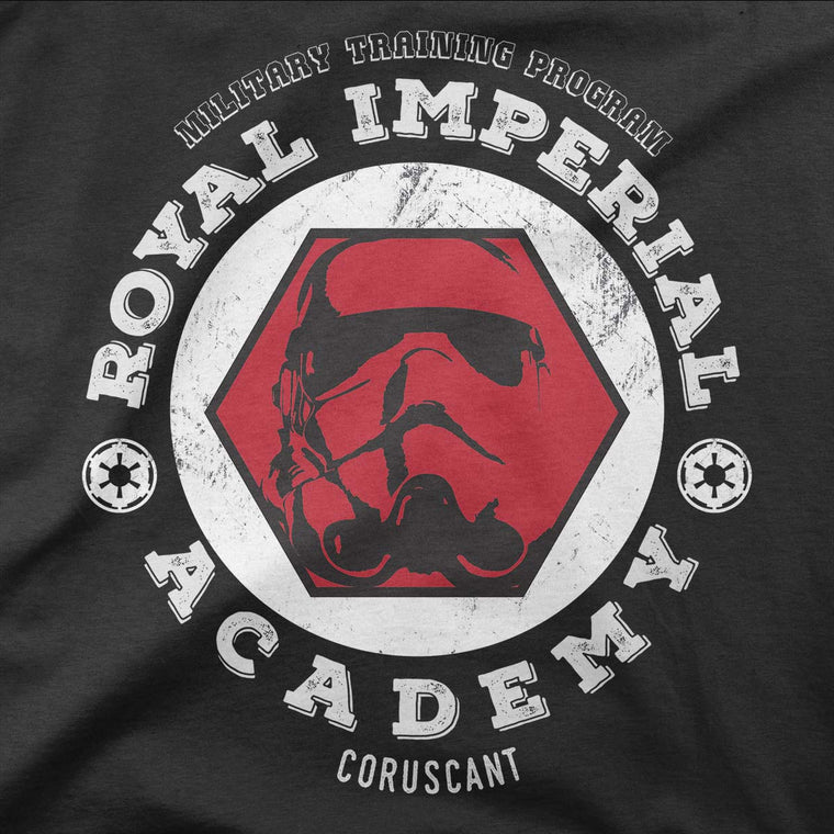 star wars imperial academy long sleeve grey
