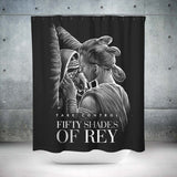 Fifty Shades of Rey Shower Curtain