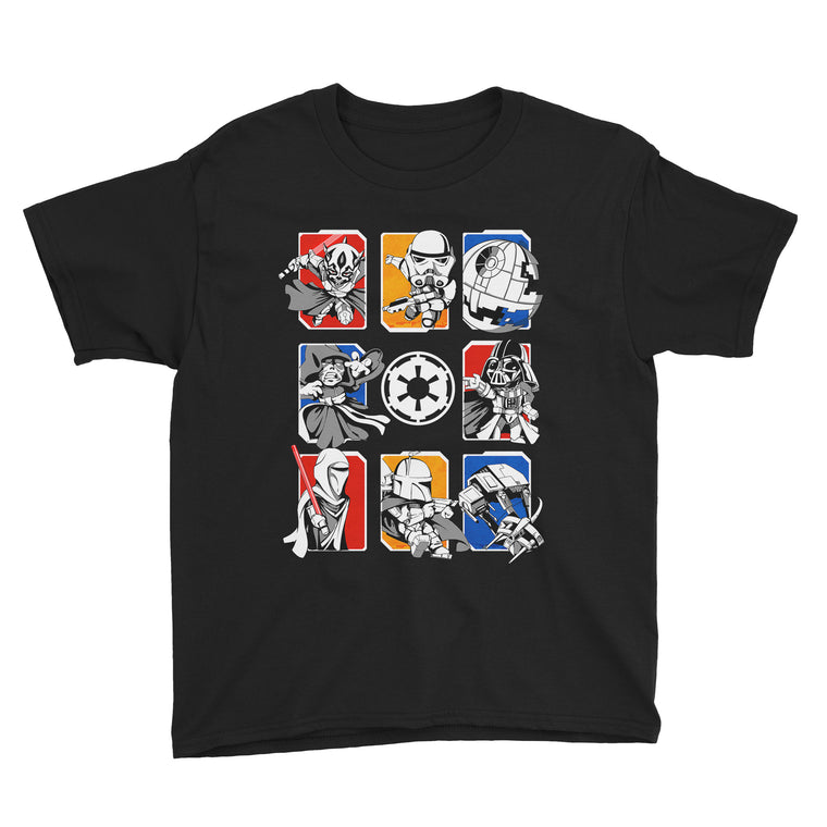 Dark Side/Light Side Chibi Kids Classic Tee