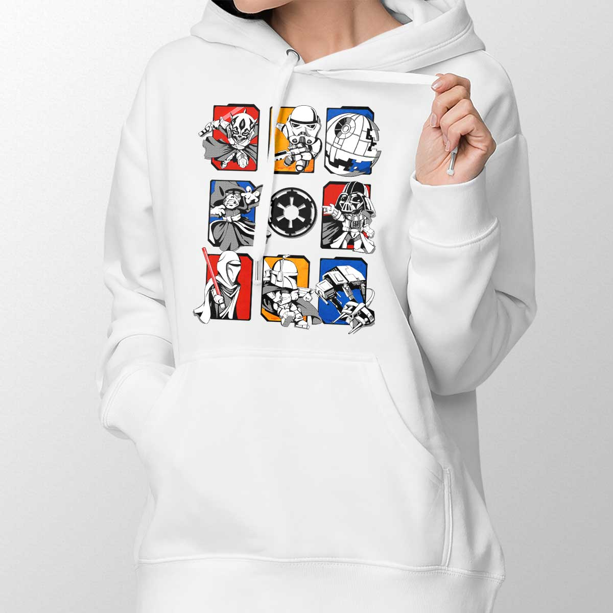 Dark Side/Light Side Chibi Womens Pullover Hoodie