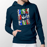 Dark Side/Light Side Chibi Mens Pullover Hoodie