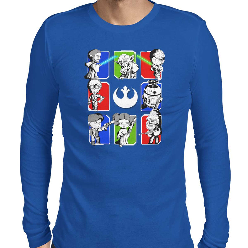Dark Side/Light Side Chibi Men's Long Sleeve Tee