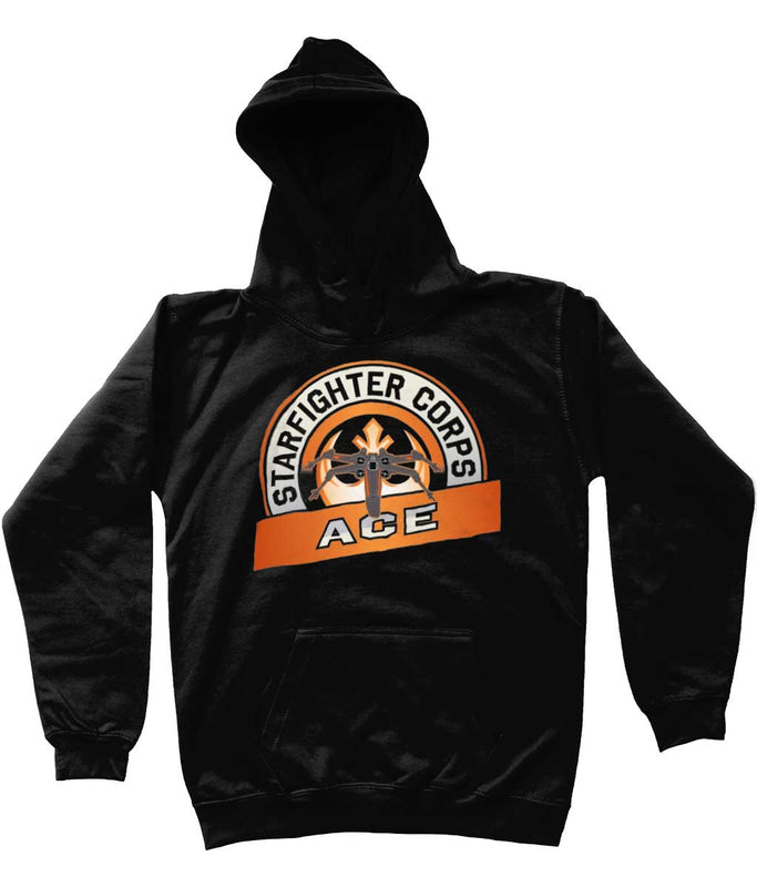Star wars hoodie starfighter corps kids black