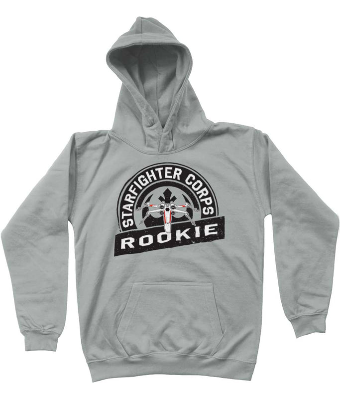 star wars hoodie starfighter corps kids grey
