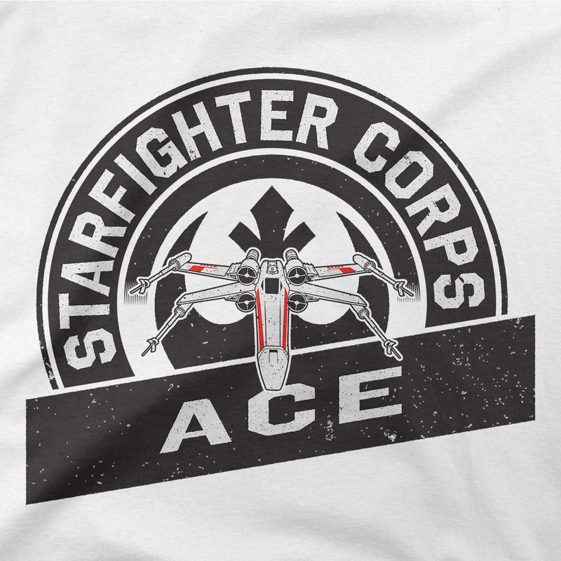 star wars t-shirt starfighter corps tee white