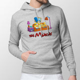 simpsons minions mens hoodie grey