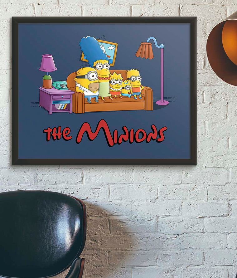 The Simpsons vs The Minions Poster