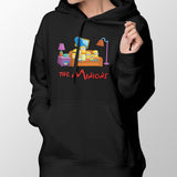 simpsons minions women's hoodie black