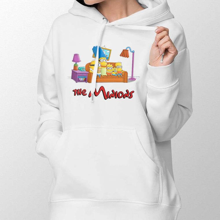 The Simpsons vs The Minions Women's Pullover Hoodie