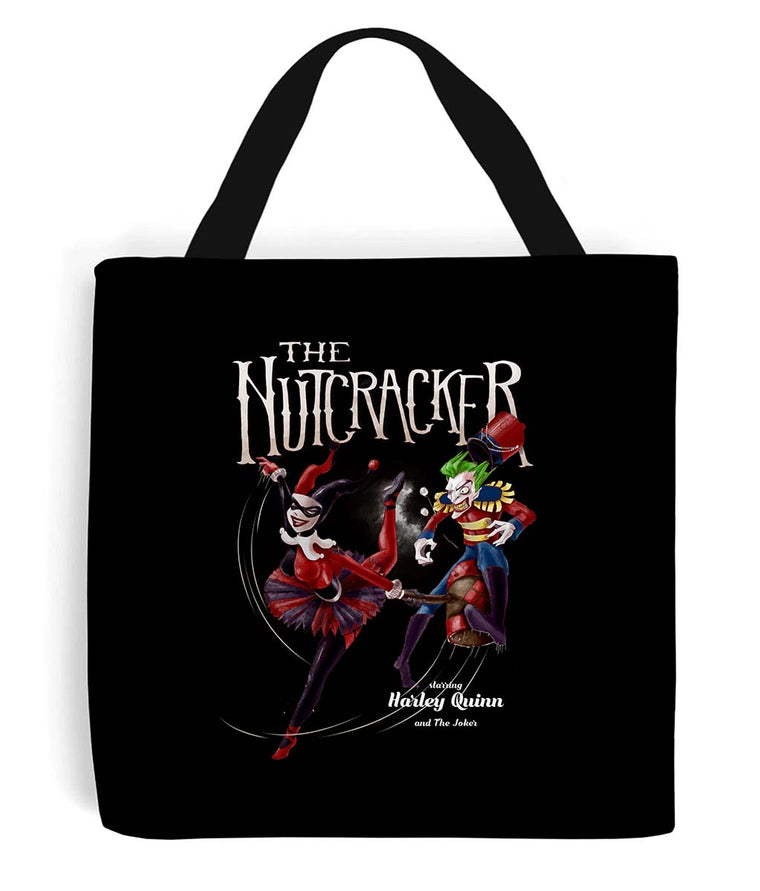 The nutcracker tote bag harley quinn and the joker