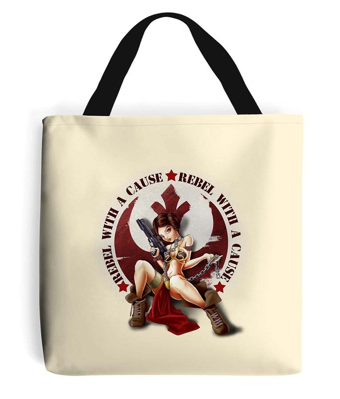 star wars rebel with a cause tote bag