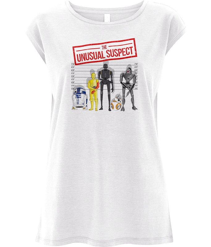 The Unusual Suspect Women's Capped Sleeve Tee