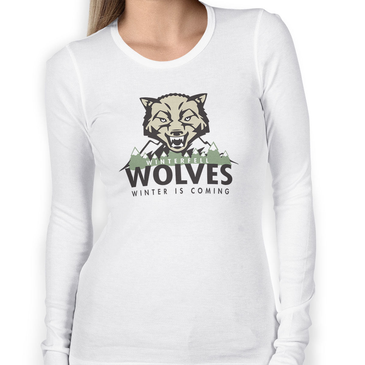 Winterfell Wolves Women's Long Sleeve Tee