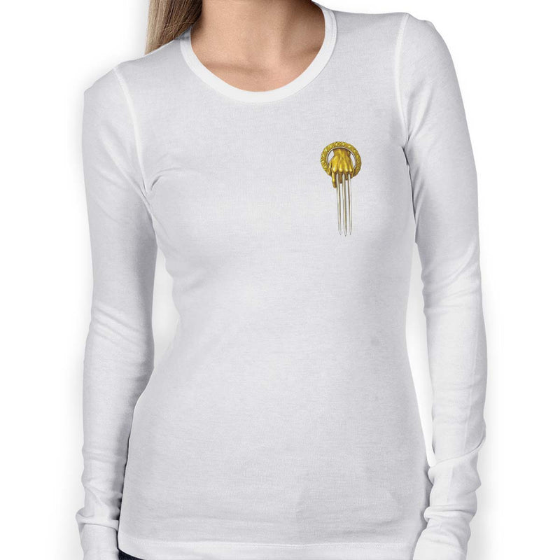 hand of the wolverine emblem women s long sleeve tee porcupus