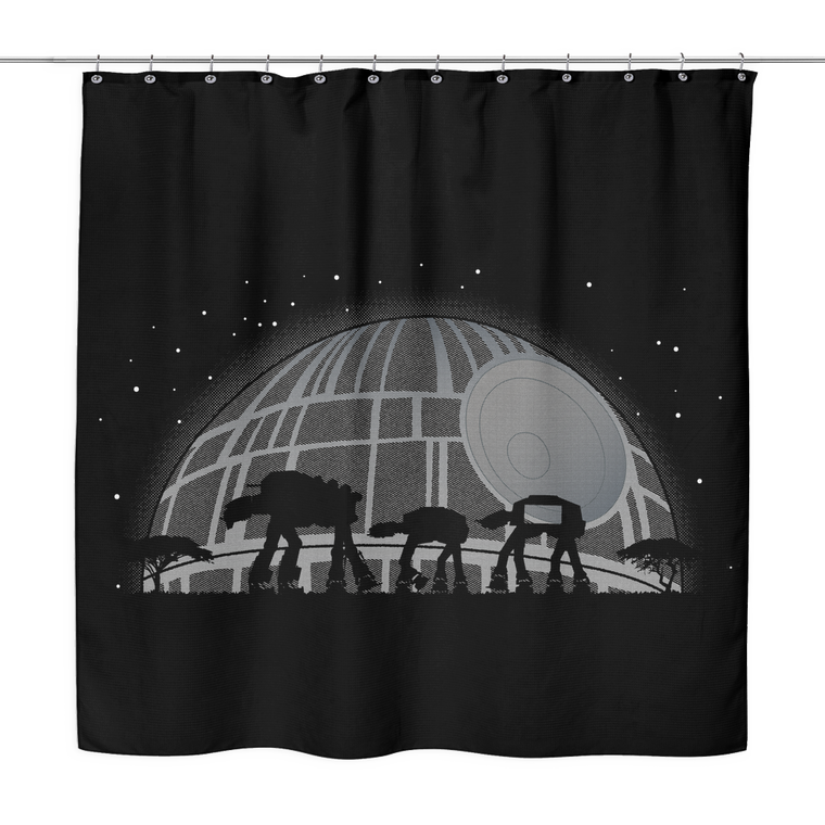 star wars shower curtain AT-RICA