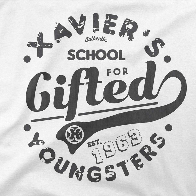 xavier school mens tshirt light grey