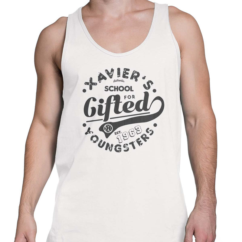 xavier school mens tank top white