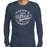 xavier school mens tshirt navy