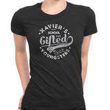 xavier school womens tee black
