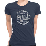 xavier school womens tee navy
