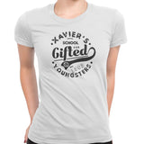 xavier school womens tee white