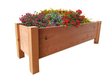 "GroGardens 1' x 4' x 16""  Redwood Elevated Garden Bed - GroGardens"
