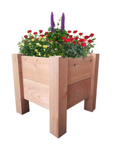 "GroGardens 1' x 1' x 16""  Redwood Elevated Garden Bed - GroGardens"