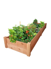GroGardens 2' x 8' Redwood Raised Garden Bed - GroGardens