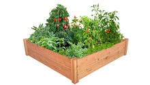"GroGardens 4' x 4' x 11"" Redwood Raised Garden Bed"