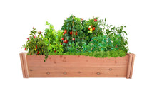 GroGardens 1' x 4' Redwood Raised Garden Bed