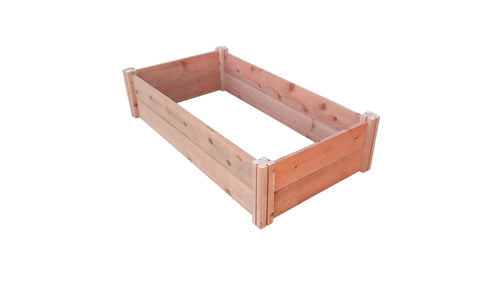 GroGardens 2' x 4' Redwood Raised Garden Bed - GroGardens