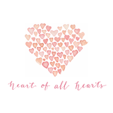 Heart of All Hearts logo pink