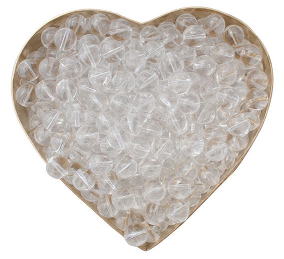 Himalayan Crystal beads in heart shape