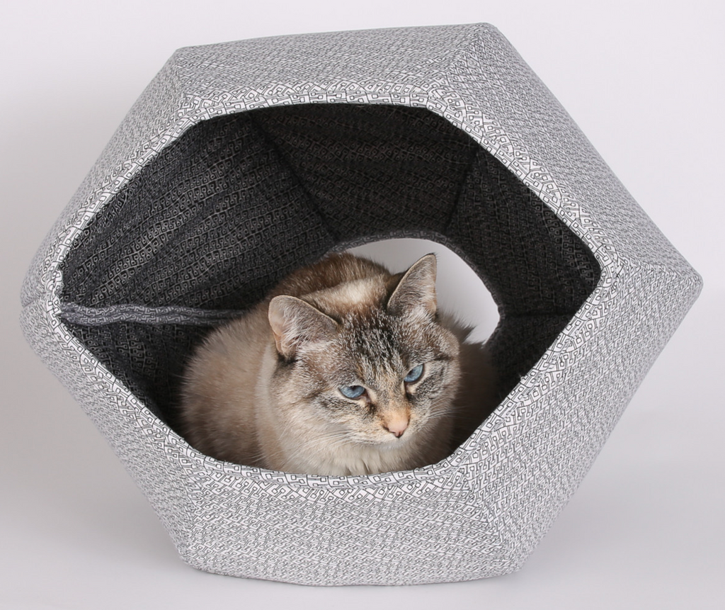 The Cat Ball | Black and White Cat Ball cat bed