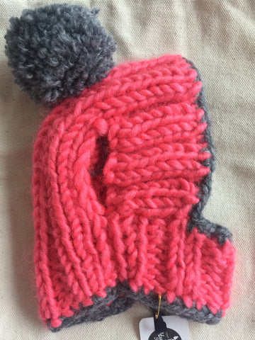 Knitted Hat in Pink