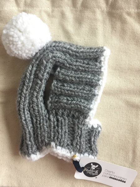 Knitted Hat in Grey