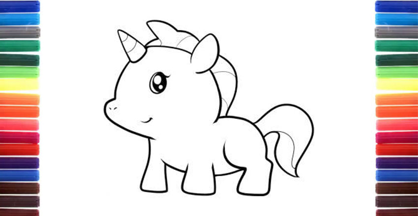 Unicorn Drawing For Kids Simple Step By Step Drawing For Little