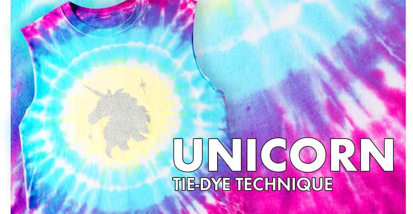 The two easiest techniques to make A Tie Dye Unicorn Shirt yourself!